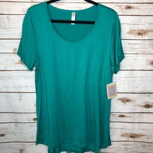 Lularoe Classic T XL Solid Teal t-shirt NWT